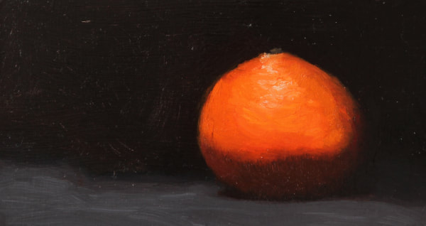 Original oil painting of a clementine